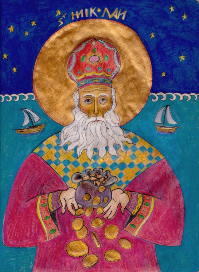 Saint Nicholas, patron saint of sailors and generous philanthropist